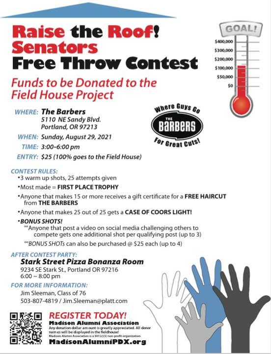 Madison Free Throw Contest flyer thumbnail