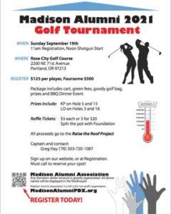 2021 Golf Tournament flyer thumbnail - click for PDF version