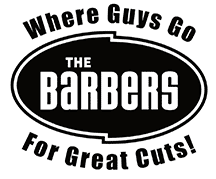 The Barber's logo - Where guys go for great cuts